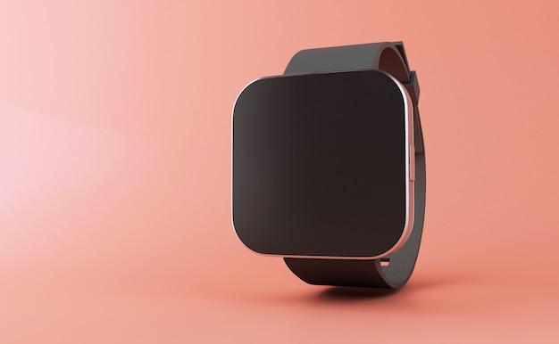 3d смарт часы с черным экраном