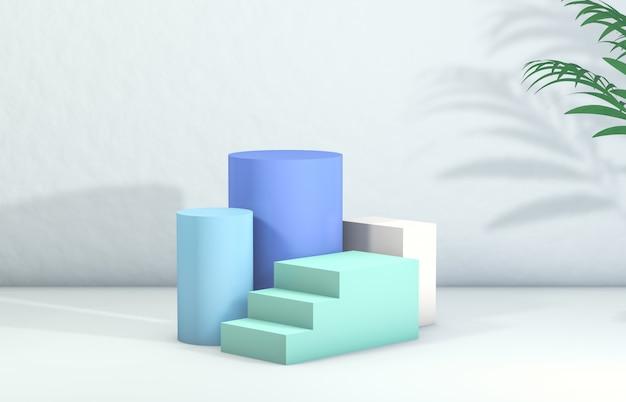 3d-рендеринг. подиум для демонстрации косметической продукции.