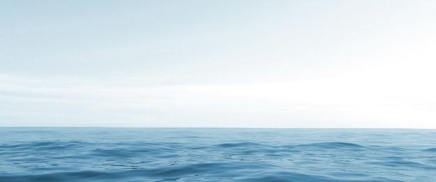 海の地平線。 3dレンダリング