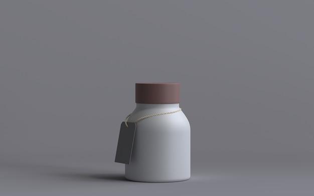 3d визуализированная бутылка с биркой