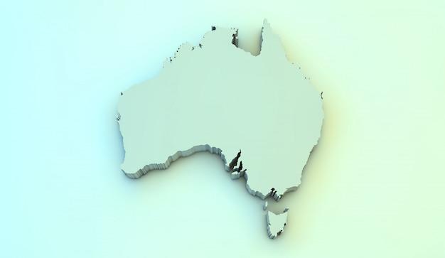 3d карта австралии
