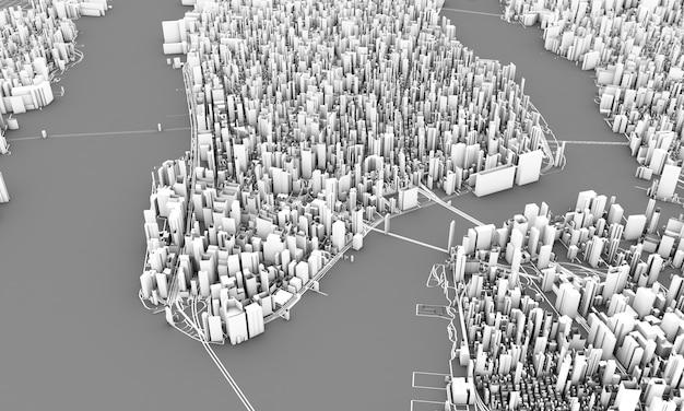 ニューヨークの3dレンダリング