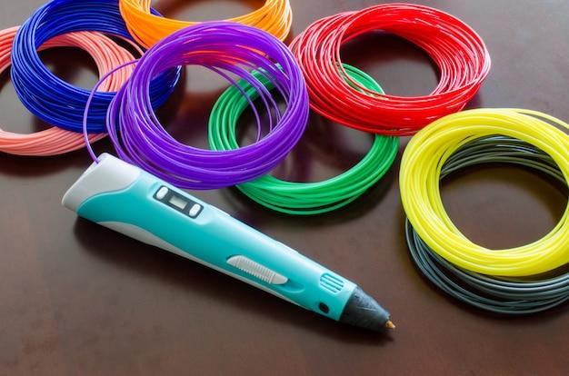 Комплект цветного абс пластика в катушках для 3d ручки и принтера