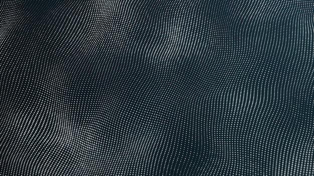 Цифровая волна футуристические технологии абстрактный фон анимация 3d-рендеринг