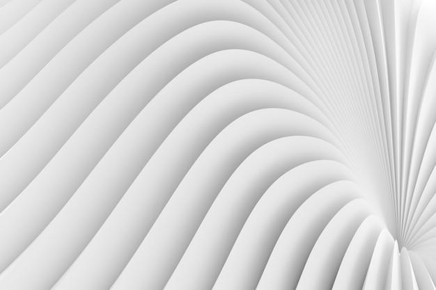 Текстура излучающего объемного окружения белых полос. 3d иллюстрация