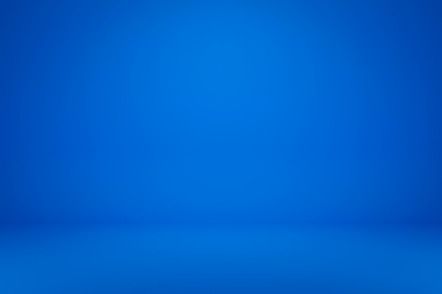 最小限のスタイルで鮮やかな夏の背景に空白の青いディスプレイ。製品を表示するための空白のスタンド。 3dレンダリング。