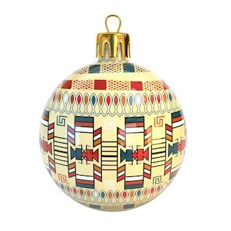 部族の形から作られた3dクリスマスの装飾。元のメキシコの要素。