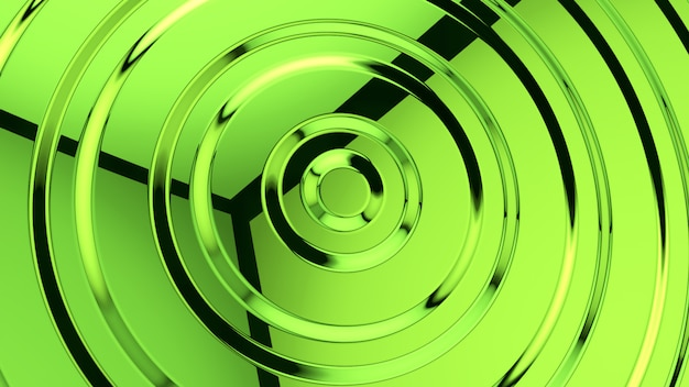 Абстрактный зеленый стеклянный фон 3d-рендеринга