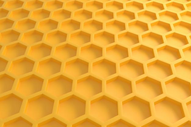 3d желтый шестиугольник случайным образом