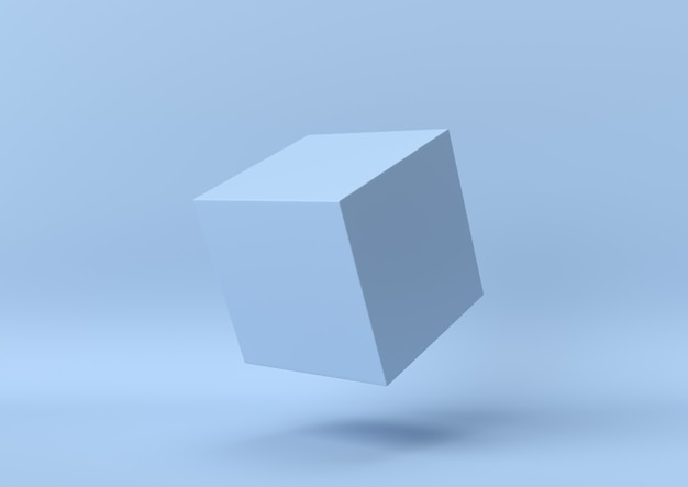 Абстрактный синий цвет геометрических фигур фон, современный минималистский, 3d-рендеринга