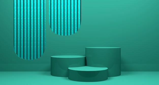 光沢のある抽象的な幾何学的なバナーの背景。 3dレンダリング。