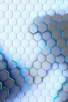 3s抽象的な技術的な六角形の背景正方形の抽象的なテクスチャのイラスト垂直パターンデザイン