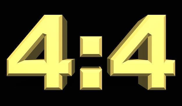 4:4 축구 또는 축구 스포츠 점수