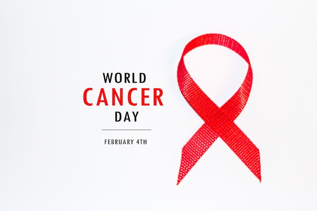4 february world cancer day concept . cancer concept