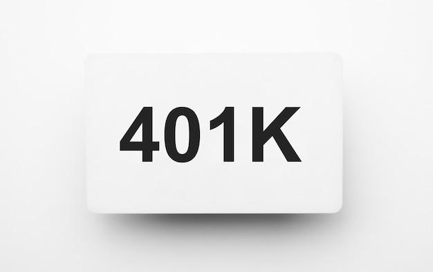 흰색 backgound에 메모장에 401k 기호