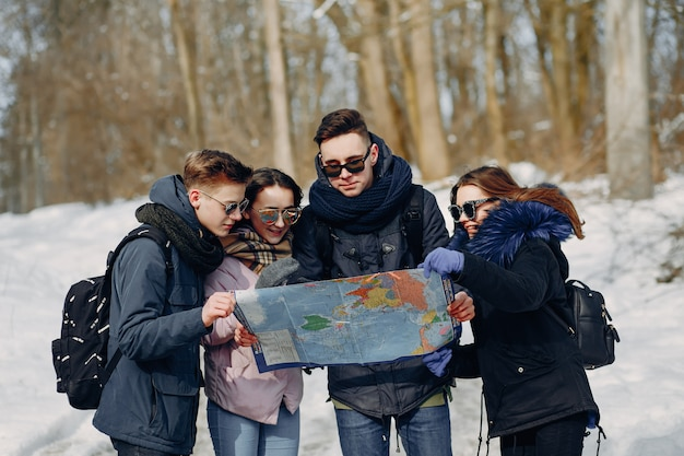 4人の観光客