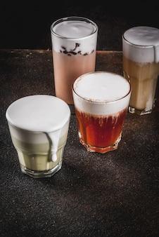4 вида сырного чая со взбитыми сливками