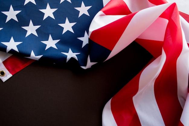 Американский флаг на день памяти или 4 июля.