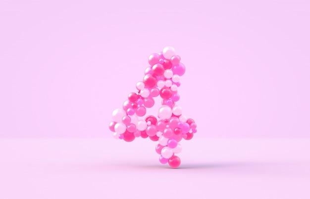 甘いピンクのキャンディー風船番号4。