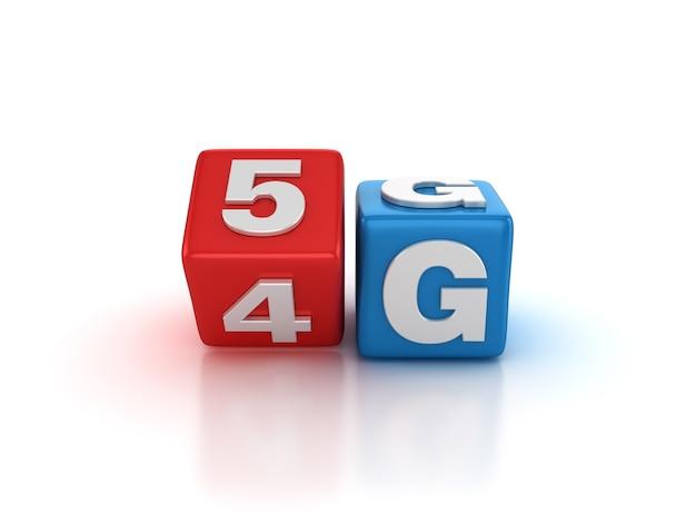 Плитка блоков, изменяющихся от 4g до 5g слов