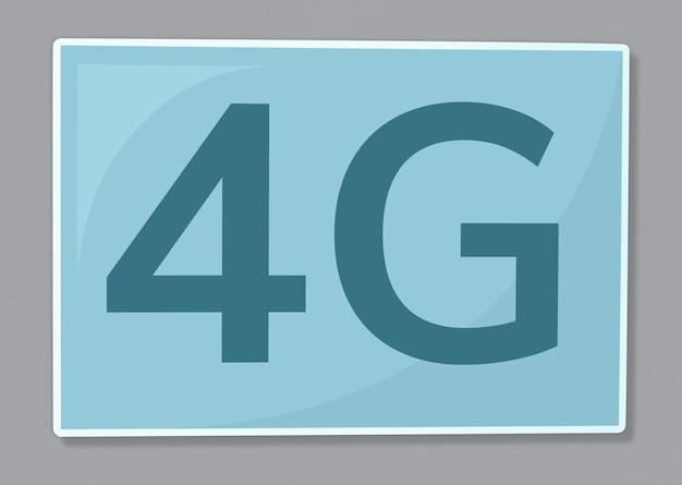 4g network communication icon illustration