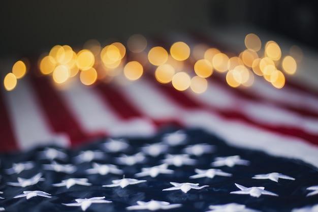 4 июля день независимости, день труда, сша, флаг сша с боке