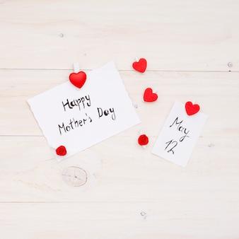 幸せな母の日と5月12日の碑文