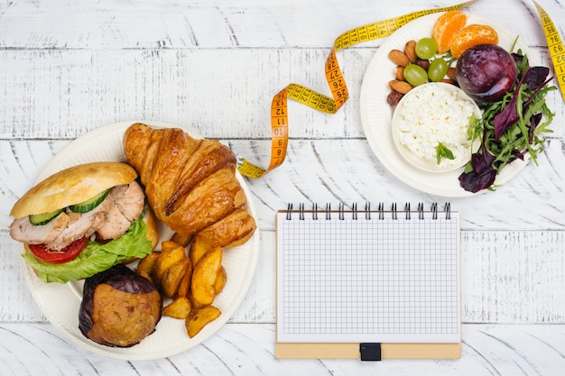 5:2 fasting diet concept