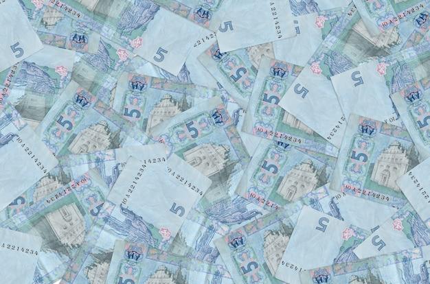 5ウクライナグリブナ法案は大きな山にあります。 。巨額