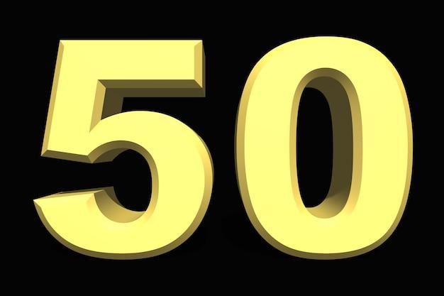50 пятьдесят номер 3d синий на темном фоне