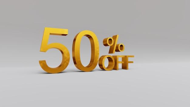 50 percent discount 3d rendering