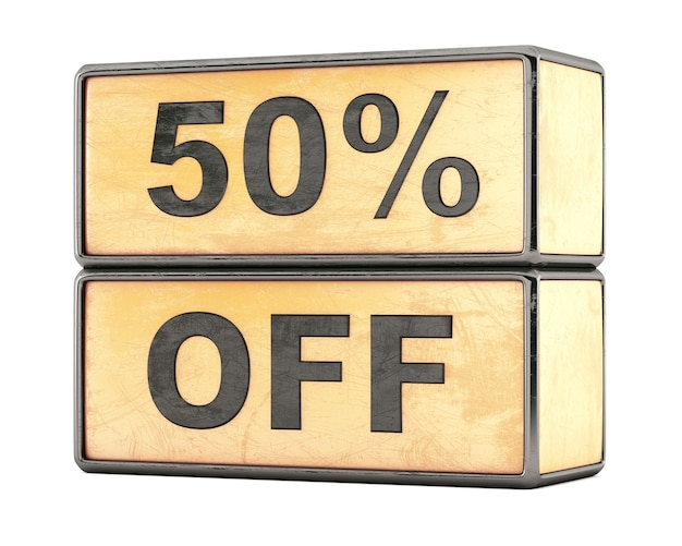 50 percentage sale discount promotional boxes