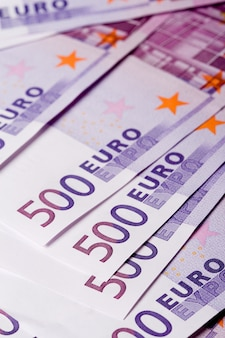 500 euro banknotes background