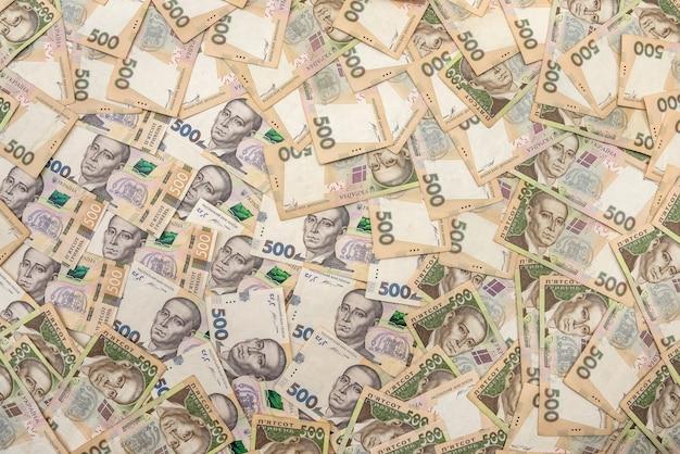 500 украинских гривен как твердый фон. концепция денег.