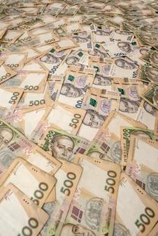 固体の背景として500ウクライナグリブナ。お金の概念。