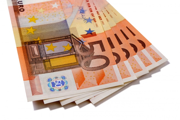 Банкноты евро 50