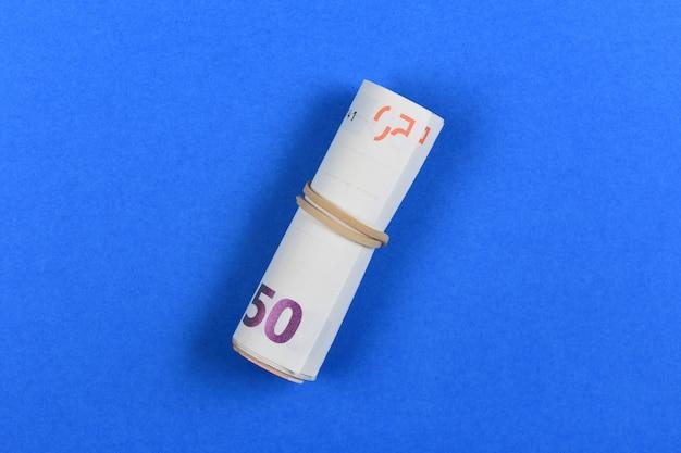 青の50ユーロ紙幣
