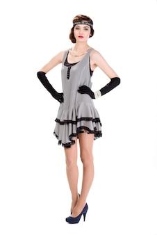 50代スタイルのファッション女性