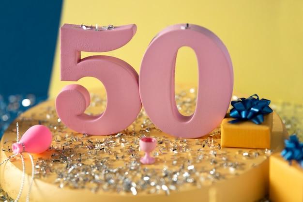 50th birthday arrangement with festive decorations
