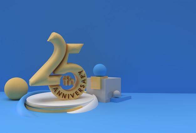 50-летие празднования годовщины текстового дисплея продуктов рекламы 3d визуализации иллюстрации.