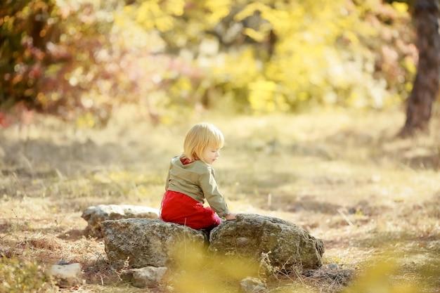 自然公園の5歳の子供
