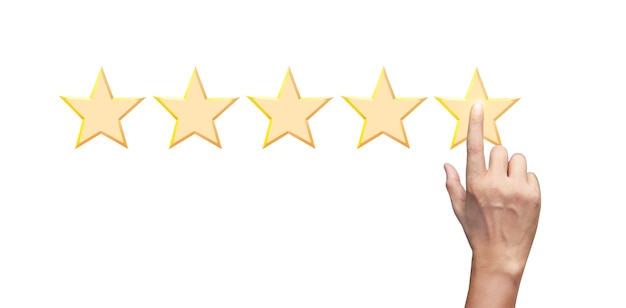 感動の手は5つ星を増やします。格付け評価分類概念の増加