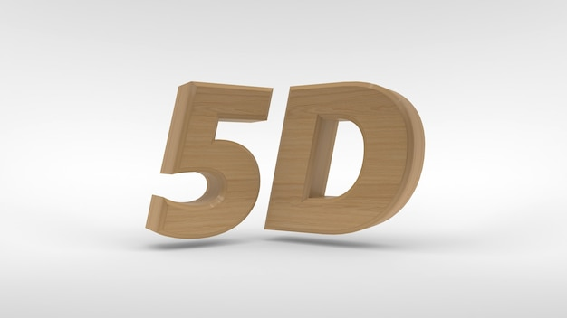 5d логотип, изолированные на белом фоне 3d-рендеринга