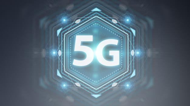 5gネットワークインターフェース3dレンダリング