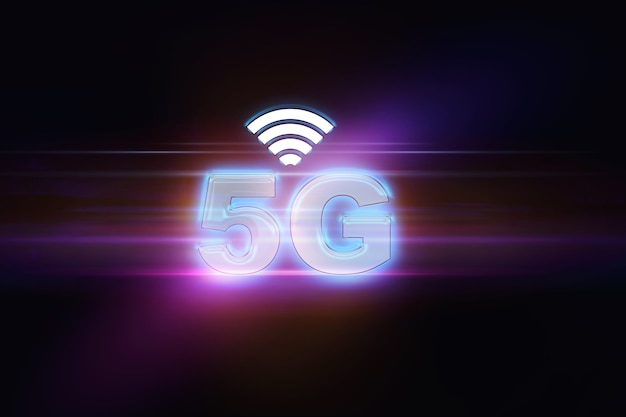 Фон передовых технологий 5g, абстрактная иллюстрация концепции 5g, большие данные в интернете