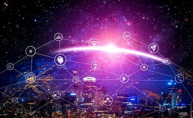 グローバルビジネスの成長、ソーシャルメディア、デジタルeコマースおよびエンターテインメントの家庭での使用のための5g通信技術ワイヤレスインターネットネットワーク