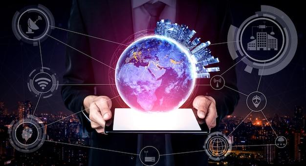 글로벌 비즈니스 성장을위한 5g 통신 기술 무선 인터넷 네트워크