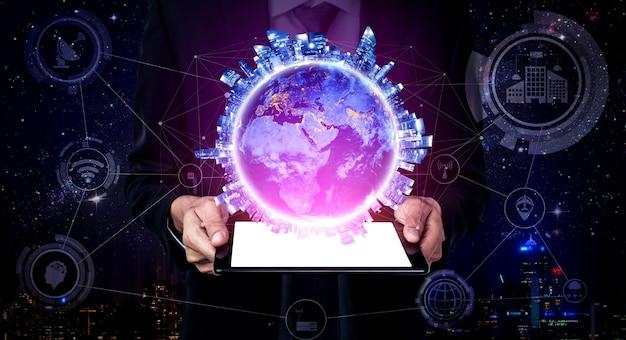 Беспроводная интернет-сеть с технологией связи 5g для роста глобального бизнеса