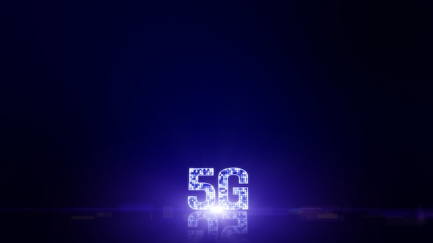 5g connectivity digital data futuristic information of things background