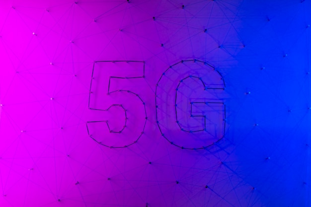 5g contemporary technology background